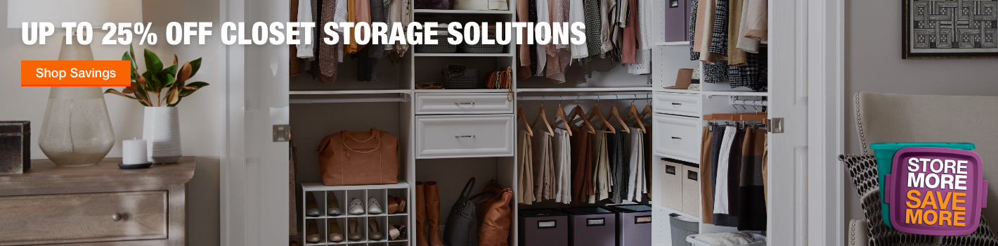 Up to 25% Off Closet Storage Solutions - Shop Now