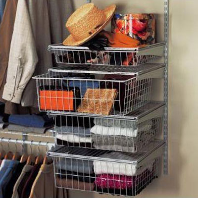 Wire shelves · wire drawers