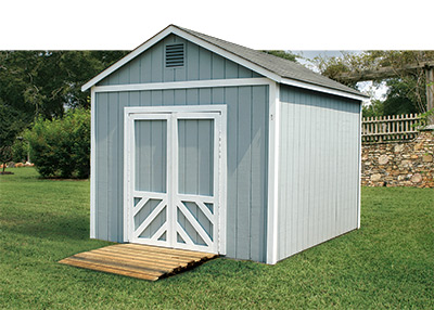 Sheds outdoor buildings at the home depot for Side of the house storage shed