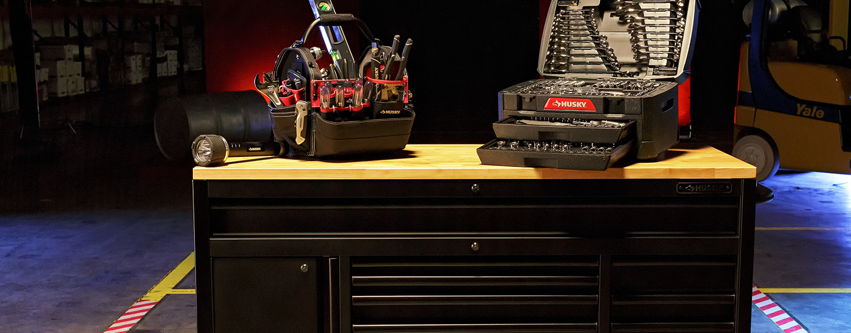 PROTECT ORGANIZE With HuskyR Tool Storage