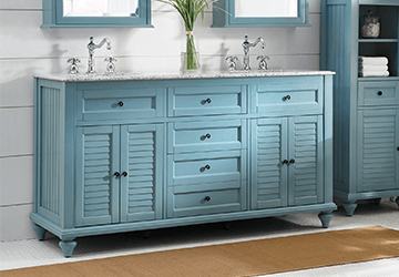 How To Choose A Bathroom Vanity - Louvered door bathroom vanity