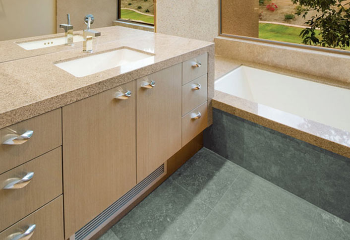 Guide To Choosing Bathroom Countertops And Vanity Tops From The - Pictures of tiled bathroom vanity tops