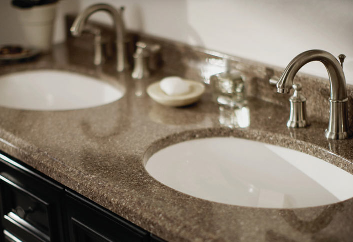 Guide To Choosing Bathroom Countertops And Vanity Tops From The Home - Counter top bathroom sinks