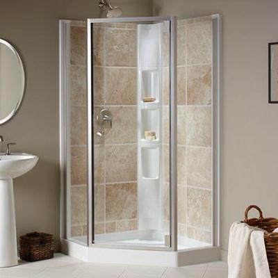 Bottom guides for round shower doos