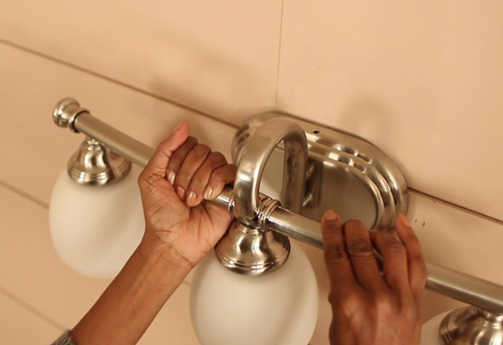 Attach Vanity Light Fixture Install Bath