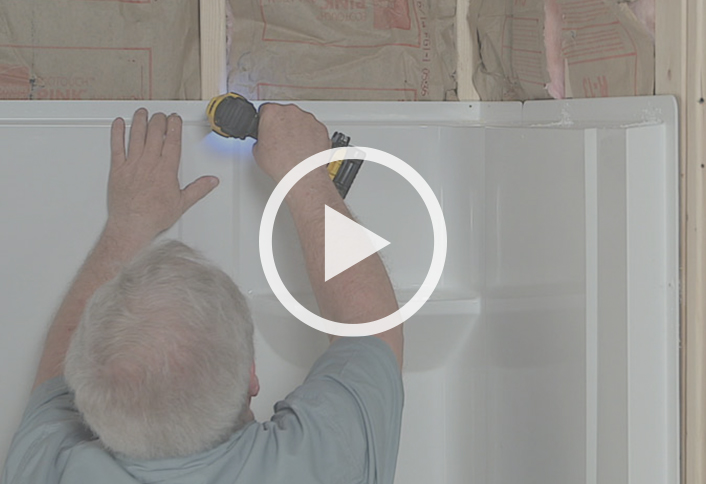 Installing A Direct To Stud Shower Enclosure At The Home Depot