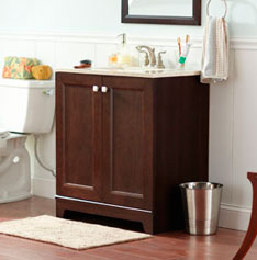 Bathroom ideas how to guides - How to install a bathroom vanity ...