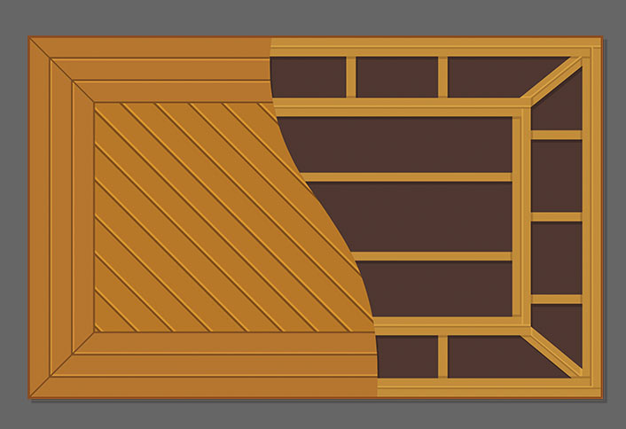 Choose the right decking pattern at home depot