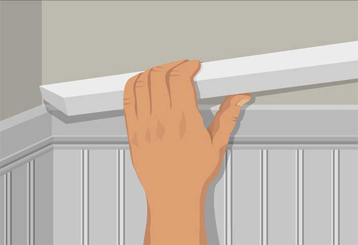 Countersink And Fill All Nail Holes. If You Paint The Wainscoting, Seal Any  Gaps With Paintable Caulk.