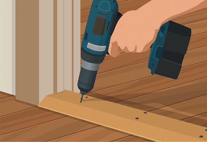 Secure new exterior threshold - Replacing Interior Exterior Threshold : door threshold repair - pezcame.com