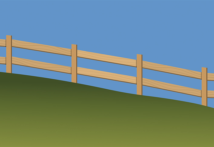 Diy Hillside Fencing And Stepped Rails At The Home Depot