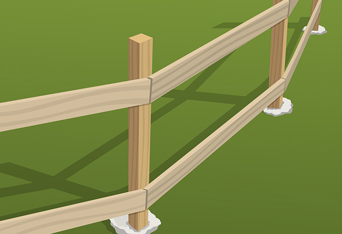 How to install wood fence rails at the home depot