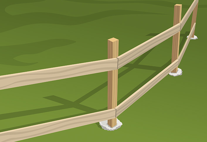 Installing Wood Fence Rails