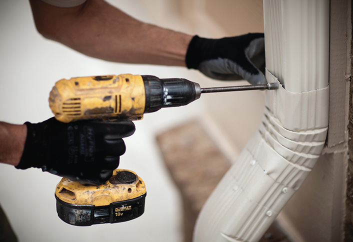 How To Repairing Leaky Downspout Joints At The Home Depot