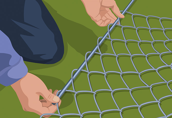 Tension Bar Mesh Hanging Chain Link Gate