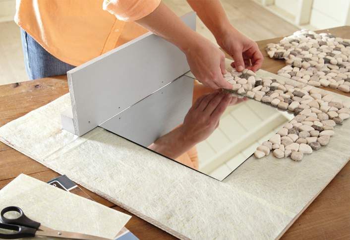 APPLY SIMPLEMAT - How Make Mosaic Tile Mirror