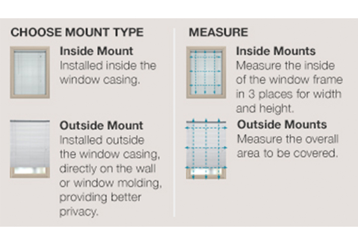 Choose Inside Outside Mount Measure Roller Solar Shades