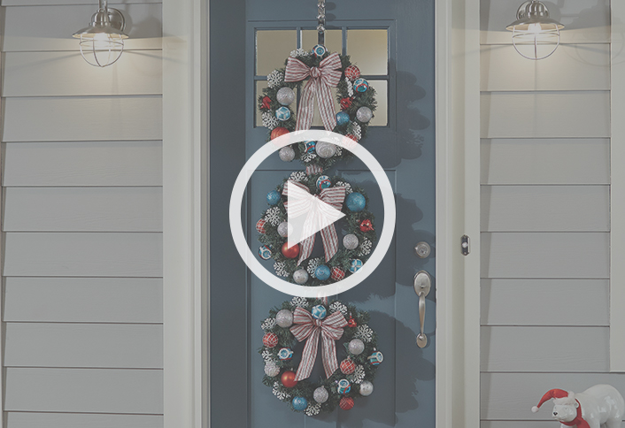 Make A Triple Wreath Door Hanger