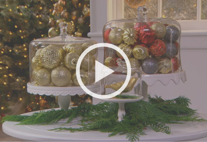 how to make a hanging ornament chandelier