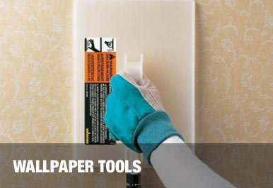 Tools for Hanging Wallpaper at The Home