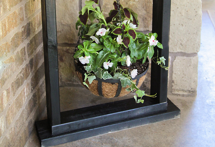 Wooden Hanging Plant Stand