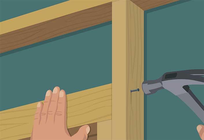 Nailjack Studs Place   Pre Hung Interior Door