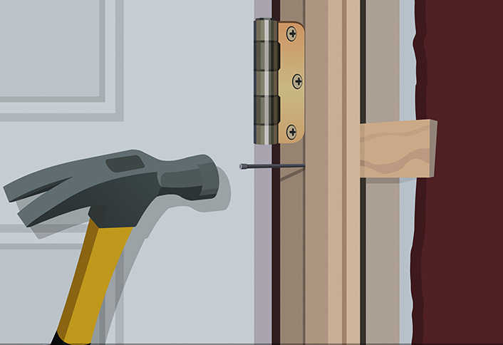How to install a split jamb interior door - Installing prehung exterior door on concrete ...