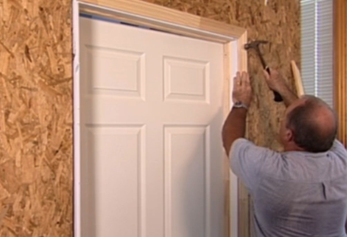 Install door trim - Installing Interior Door & How To Install Interior Door at The Home Depot