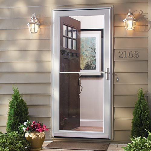 Selecting your exterior doors at the home depot for Security patio screen doors