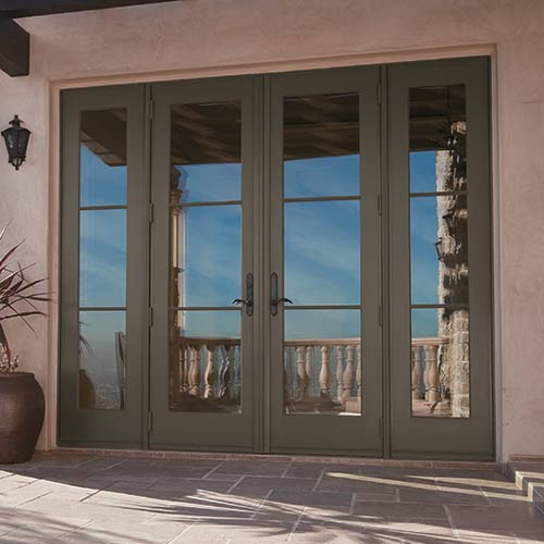 Selecting your exterior doors at the home depot for Patio doors with side windows