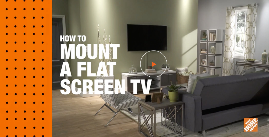 how to mount a flat screen tv. Black Bedroom Furniture Sets. Home Design Ideas