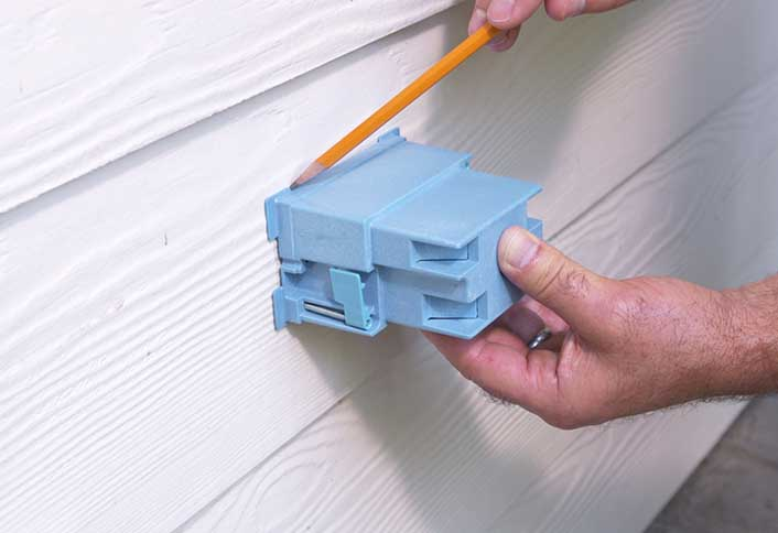 installing an outdoor electrical outlet at the home depot rh homedepot com Outdoor Electrical Outlet Boxes install outdoor electrical outlet box
