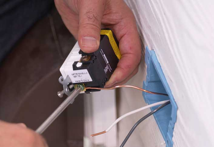 installing an outdoor electrical outlet at the home depot rh homedepot com install outdoor electrical outlet box install outdoor outlet box