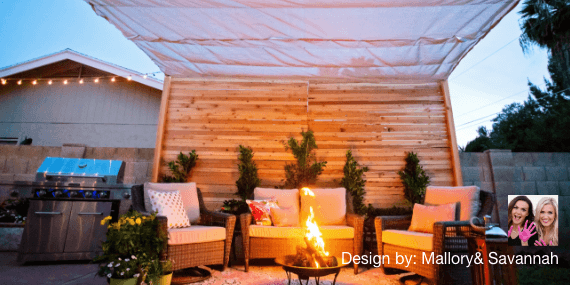 Before And After: Covered Backyard Patio Design