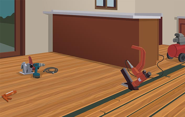While Other Floors Require Mortar Stretching Tools Or Floor Size Patterns You Can Install Hardwood Flooring With