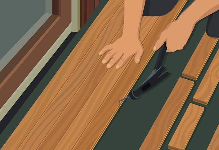 How to install hardwood floors gurus floor for How to install wood flooring