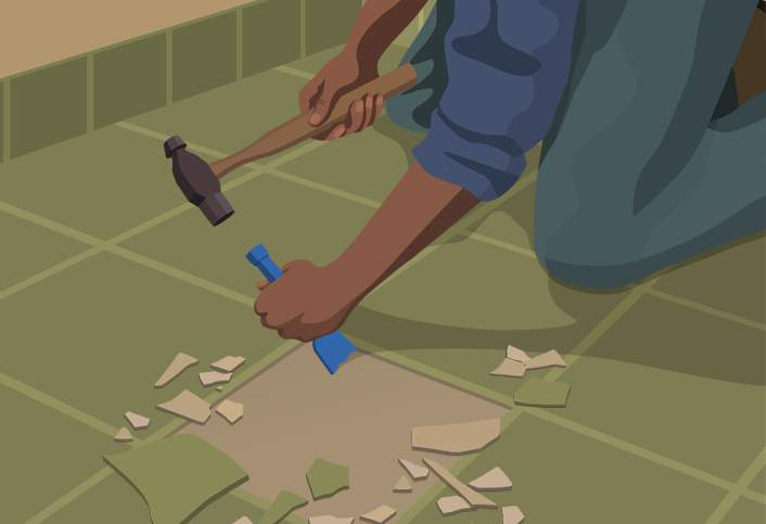 How To Remove Ceramic Tile At The Home Depot