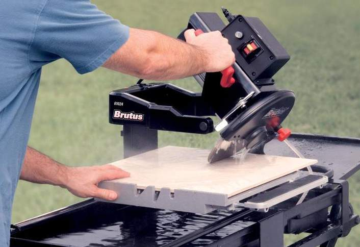 Making Bevel Cuts Cut Tile Wet Saw