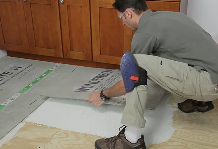 Place A Sheet Backerboard Installing Cement