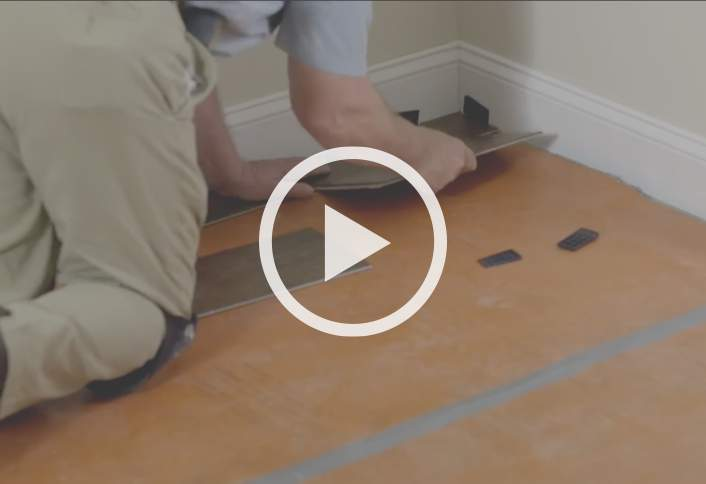 Project guide installing laminate flooring at the home depot How to install laminate flooring in a bathroom