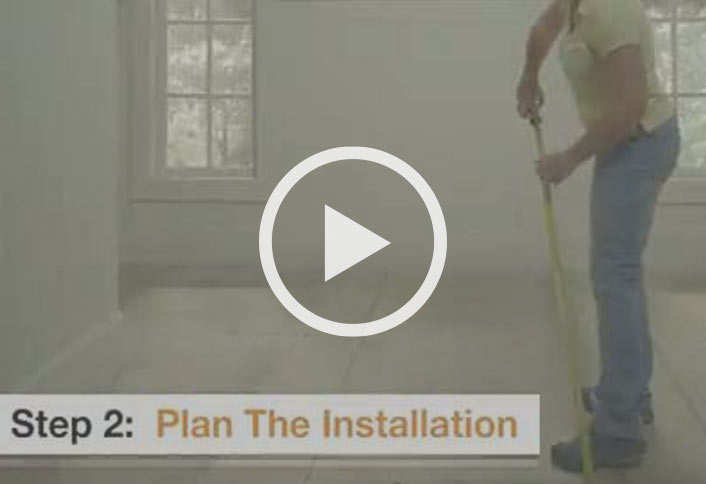 Plan Installation L And Stick Vinyl Tiles