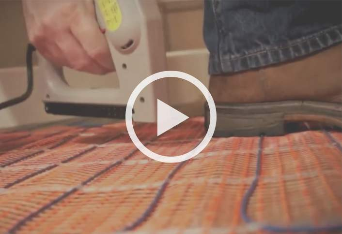 How to install radiant heat in floors at the home depot for Radiant heat flooring options