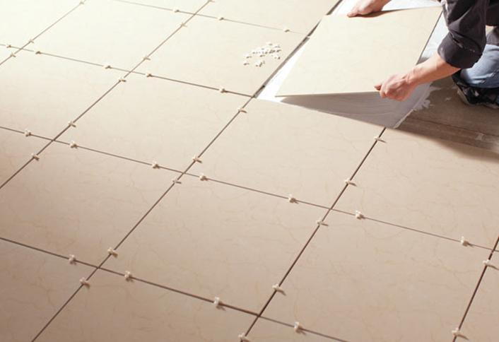 How to fit floor tiles
