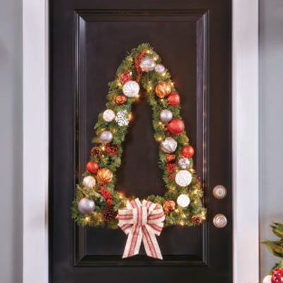 Christmas ideas and diy projects guides the home depot build a tree shaped wreath solutioingenieria Image collections