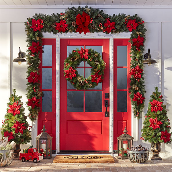 christmas decorations for your entryway - Entryway Christmas Decorations