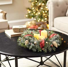 Christmas ideas and diy projects guides the home depot how to make a christmas wreath centerpiece solutioingenieria Image collections