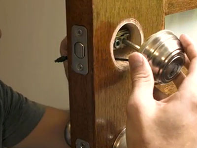 How to Install a Door Lock & How to Remove a Door Knob - The Home Depot