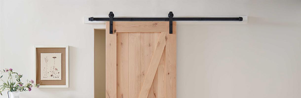 Barn Door Backer Board And Metal Track