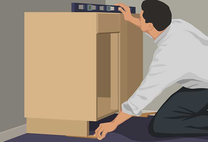 Put corner cabinet - Install Base Cabinets & Base Cabinet Installation Guide at The Home Depot