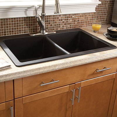 Selecting the ideal kitchen sink at the home depot double bowl kitchen sinks buying guide workwithnaturefo